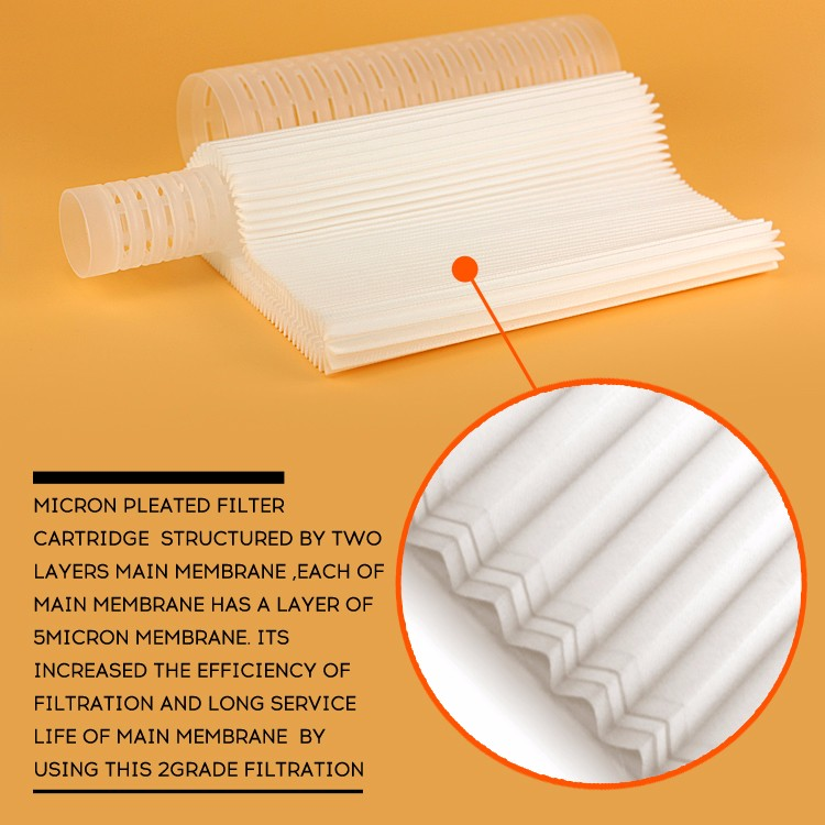 high quality sealing pp pleated filter cartridge for dirt water filter system