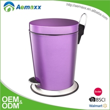 Luxury trash can metal garbage can waste bin hotel room