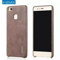 Retro Classic Series Leather Back Cover Protector Mobile Phone Case For Huawei G9 Lite CA1152
