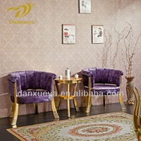 Luxury coffee shop furniture , hotel leisure chair and coffee table