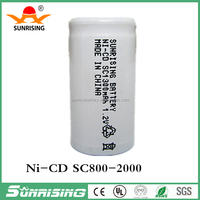 Sunrising rechargeable battery nicd sc 1.2v 1300mah for electrical power tool battery