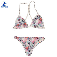 2018 Hot Sexy China Bikini Girls Photos Colorful Floral Bikini Brazilian Set