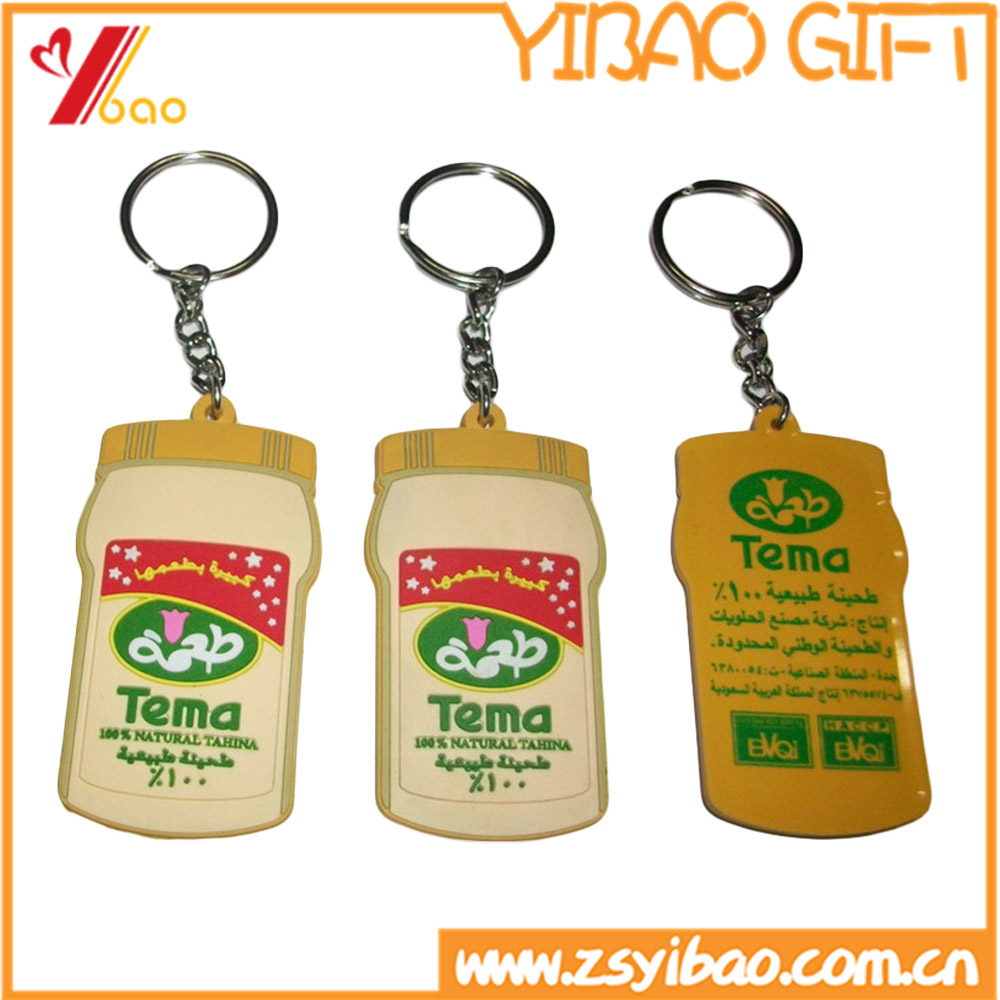 Cheap wholesale soft 2d/3d pvc keychain, customized silicone rubber key ring