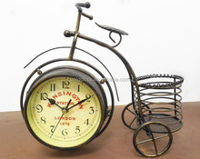 Double side bicycle table clock
