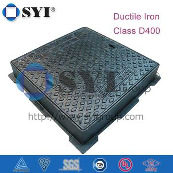 D400 Square Clear Opening 300/400 Single Seal Manhole Cover