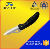 420 Stainless Steel PU Coating Handle Sharp Utility Diving Survival Tactical Folding Knife