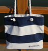 British style stripe wholesaler canvas tote shopping bag