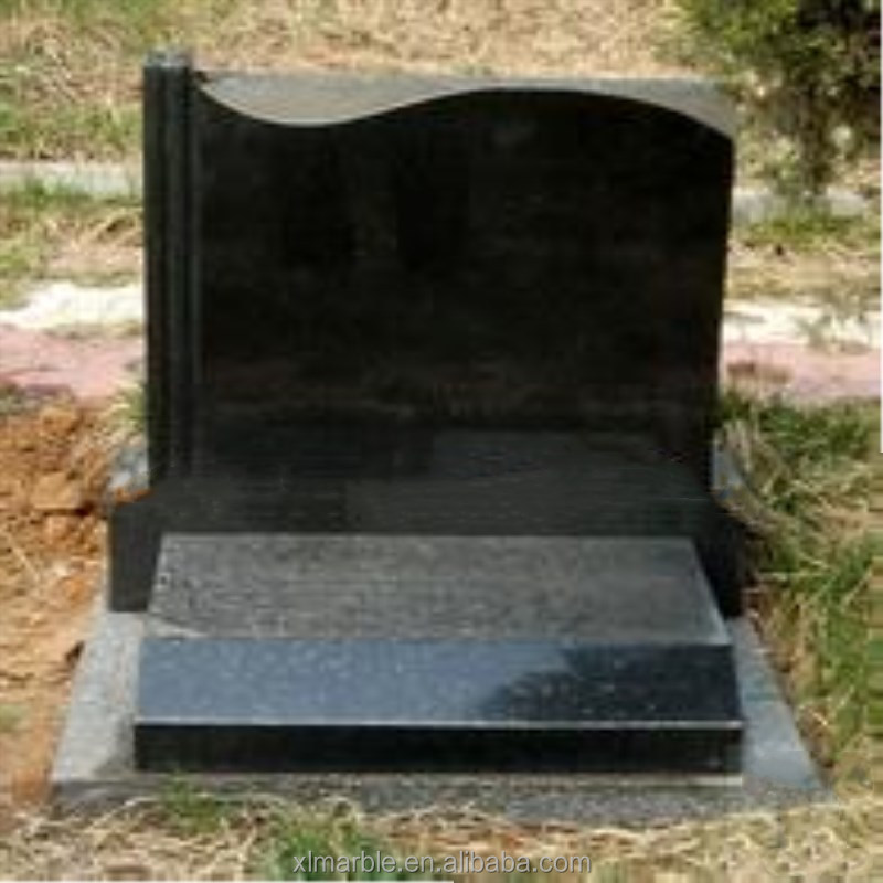 2016 New Natural black granite stone tombstone With the Best Quality