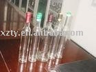 thin glass wine bottle with long neck