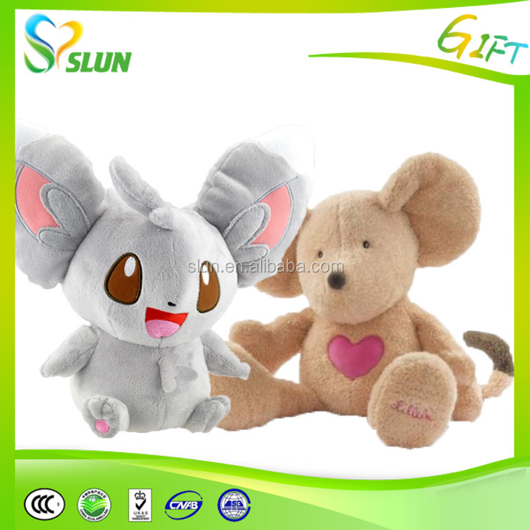 Familiar in oem odm factory cute style popular plush soft mouse keychain toy manufacturer