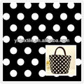 200D cheap polka dots printed oxford fabric for handbags