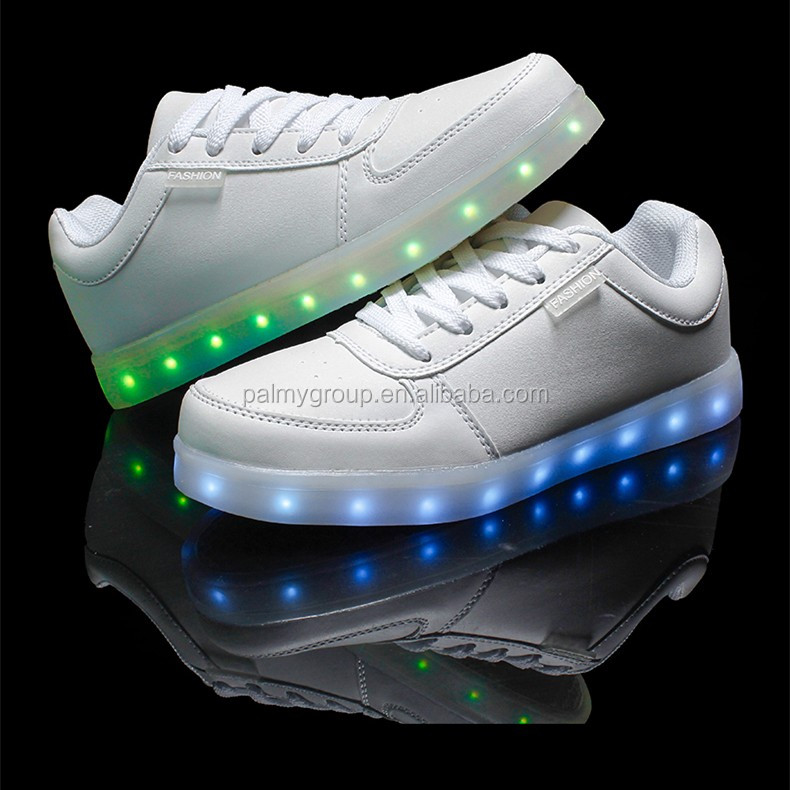 Bulk led shoes wholesale Women Men USB Charging light Flashing LED Shoes