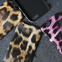 Leopard Grain Paint Scratch-resistant PU Leather Phone Case for iPhone