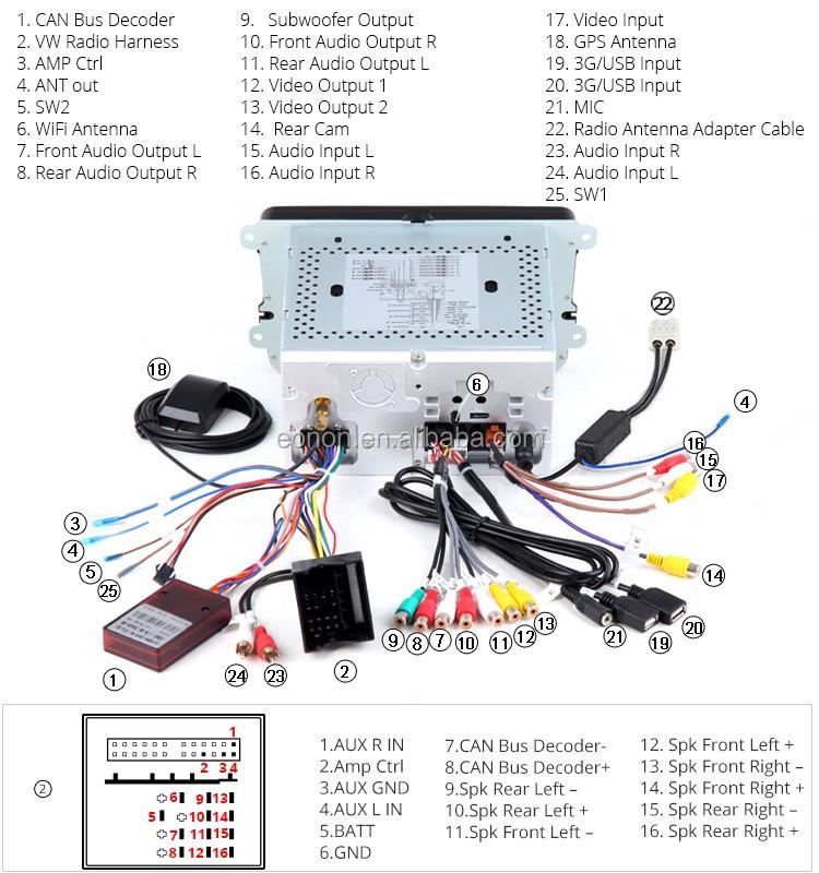 eonon ga6153f for volkswagen seat skoda android 5 1 1 quad core 8 rh alibaba com eonon e1012 wiring diagram eonon e1025 wiring diagram