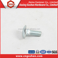 class 8.8 galvanized carbon steel carriage bolt m20