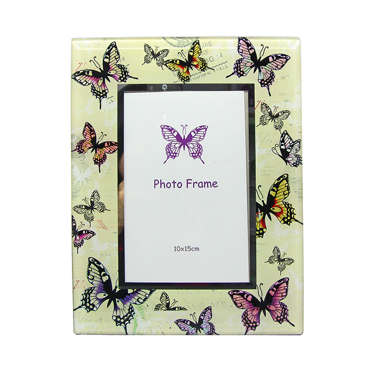 HX-6310 Square butterfly glass personalized dog picture frames
