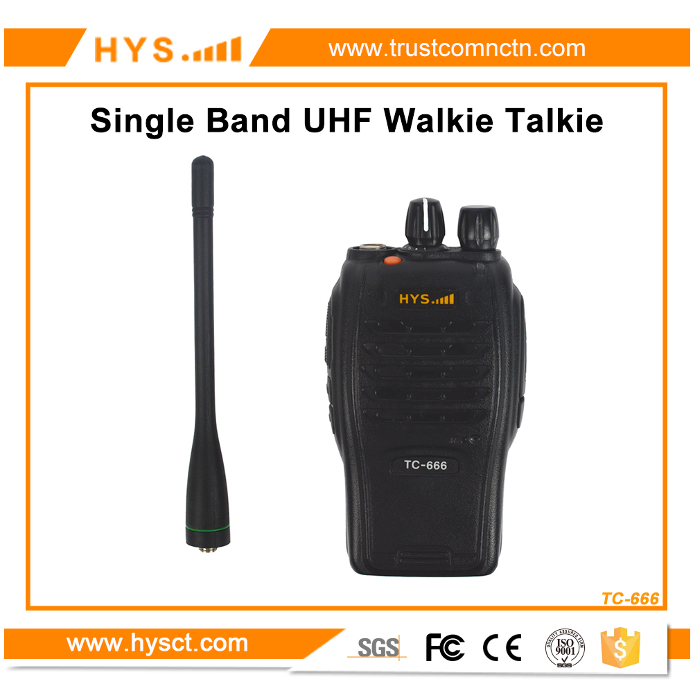 7W Portable Ham Walky Talky UHF 400-470MHZ Two Way Radio Transceiver