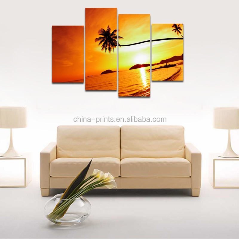 Natural Scenery Canvas Printing Art/Customized Digital Photography Printing/Dropship Cheap Canvas Painting