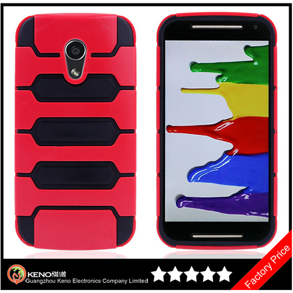 Keno Dual Layer TPU Tank Design Durable Protective Cover Carrying Case for Motorola Moto G2 2nd Generation