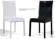 Modern and hot selling pu leather chrome leg most useful dining chair, wooden restaurant chairs