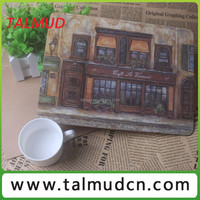 Cheapest handicrafts supplier MDF board cork backed table mat