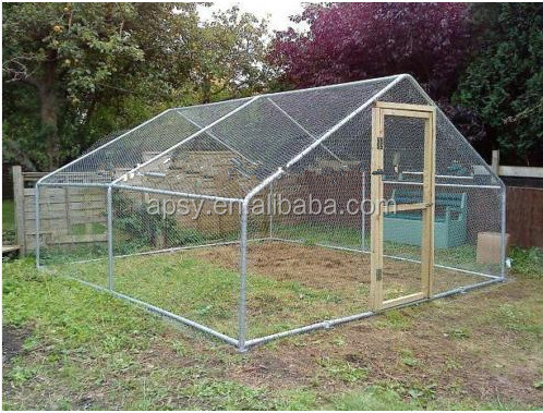 walk in pet poultry kennel play pen chicken run cage enclosure coop door with Roof