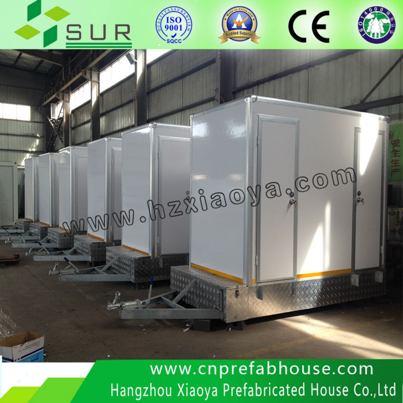 Environmental Mobile Saving Water treatment instructiond mobile toilet for pack