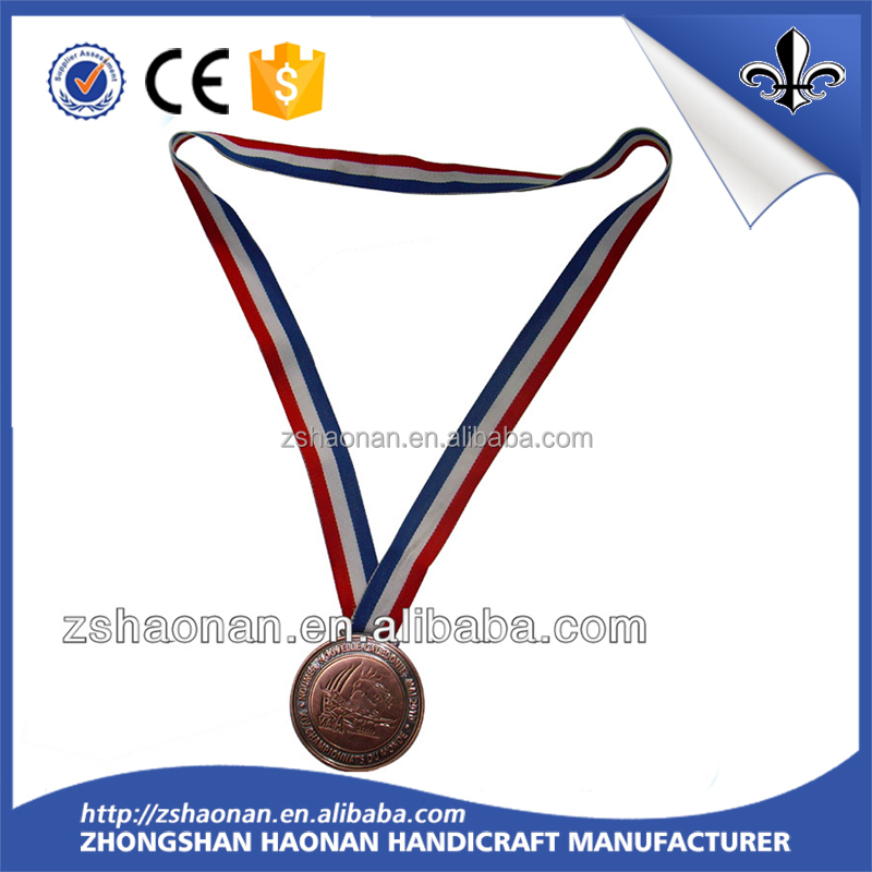 High quanlity best selling red white blue ribbon for medals