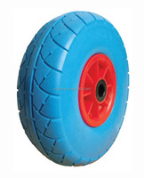 10 inch solid PU foam wagon wheel cart wheel