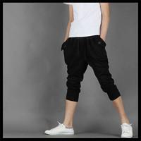 wholesale cheap fashion new design men casual Cropped sweatpant