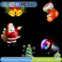 Canada hot sale LED colorful projector Moving Christmas santa