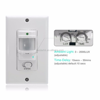 110V Automatic PIR Infrared Body Motion Sensor Switch for LED light