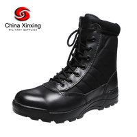 Xinxing Supply 30,000 pairs per Month Army Jungle Black Leather Tactical Combat Military Boot MB33