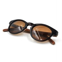 Acetate frame wooden temple unisex sun glasses, custom made sunglasses