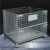 Heavy duty portable steel lockable storage cage with wheels