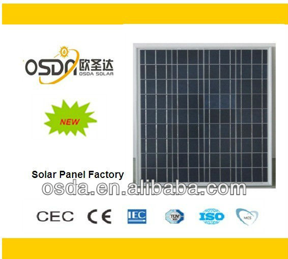 solar pv panel 60w poly-si solar panels