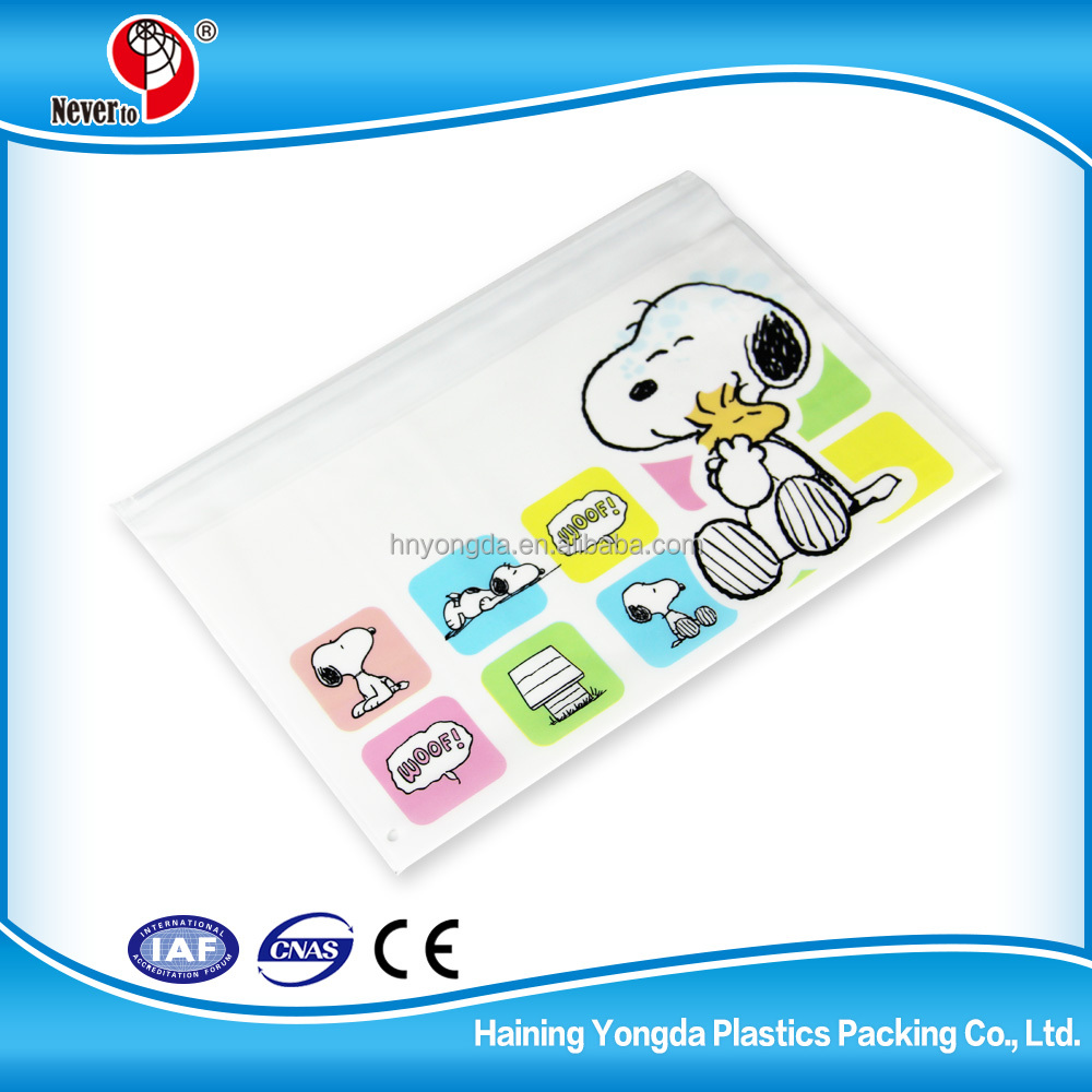 High Quality Printed Plastic Bags Pe Bag For Stationery