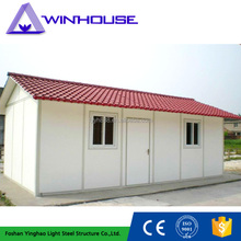 Cheap Prefabricated hip roof House for accommodation, temporary living, office