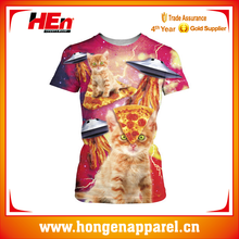 Hongen apparel Sublimation t shirts with good quality short sleeve T-shirts