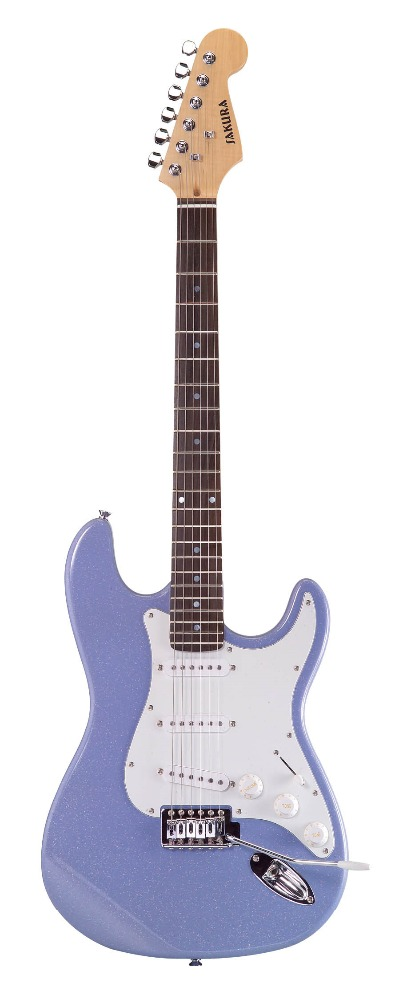 ST guitar EEG-079 lovely shining color light finish electric guitar hotsell and solid wood body