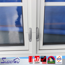 Superwu Australian standard 2016 new grill design price aluminum swing out casement window