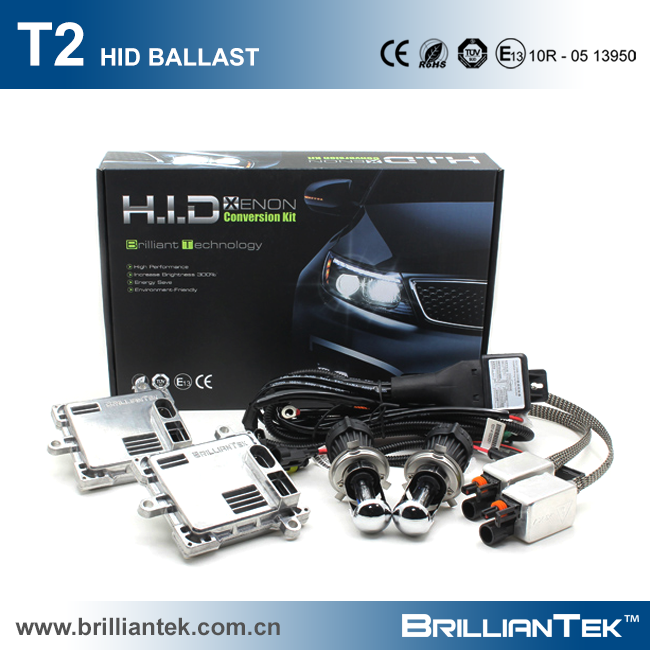 BT-AUTO Patent T2 Car and Truck 35w 55w 23000v 9004/9007 Headlight High Low HID Ballast Kit Lamp