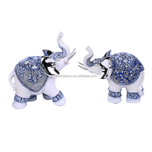 2 pcs Baby Elephant Wealth Lucky Resin Statue/Figurine,Home Decor Gift