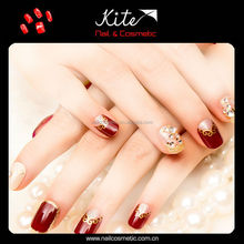 Top selling nail tips decorated artificial professional salon nail tips