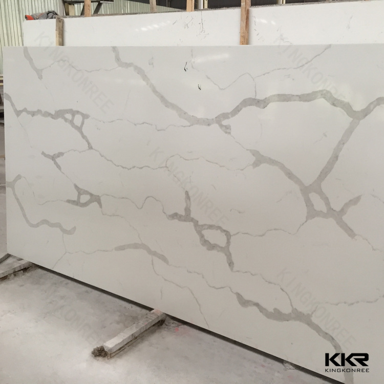 Quartz stone kitchen furniture new kichen furniture white color black stone