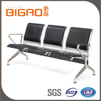 High Quality Durable Hospital Waiting Room Stainless Steel Chairs With Pu Foam Padded