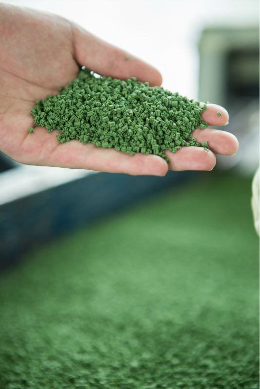 New Eco-friendly Green TPERubber Granule for Artificial Turf System