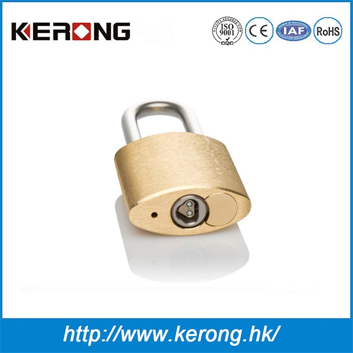 Customized brass padlock with chip key for cabinet
