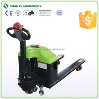 China shanye battery pallet truck 1500kg new semi electric pallet truck tuv