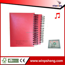 Hot Sell Custom Spiral LED Notebook Insertable Paper